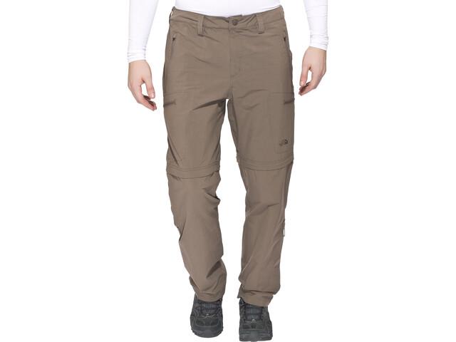 The North Face Exploration Convertible Pants short Size Men, weimaraner brown